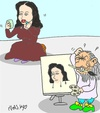 Cartoon: Masters The Jacket (small) by yasar kemal turan tagged leonardo,vinci,da,mona,lsa,make,up,love
