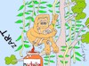 Cartoon: orangutans and palm (small) by yasar kemal turan tagged orangutans,and,palm