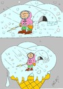 Cartoon: poles (small) by yasar kemal turan tagged eskimo poles ice cream snow type cold