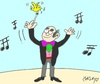 Cartoon: small soloists (small) by yasar kemal turan tagged small,soloists,music,chief
