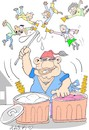 Cartoon: traditional presentation (small) by yasar kemal turan tagged traditional,presentation