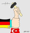 Cartoon: Turks workers (small) by yasar kemal turan tagged turks,workers,germany,turkey