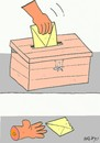 Cartoon: voter and vote (small) by yasar kemal turan tagged healthy,choice,vote,voter