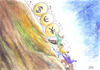 Cartoon: DESCENT (small) by aungminmin tagged cartoon,money,people,humour,financial,crisis