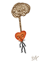 Cartoon: assaination (small) by karunakar tagged heart,brain