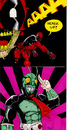 Cartoon: Deadpool and Kamen Rider (small) by JamesRiot tagged deadpool,kamen,rider