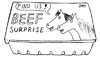 Cartoon: Findus Beef Surprise (small) by Jani The Rock tagged findus,beef,horse,meat,horsemeat,surprise