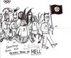 Cartoon: Olympic team of Hell (small) by Jani The Rock tagged olympics,olympic,team,hell,satan