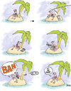 Cartoon: lector isla naufrago (small) by BONIL tagged naufrago,isla,lector,bonil