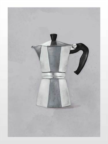Cartoon: Coffee maker (medium) by alesza tagged coffee,maker,cafe,italian,italy,morning,breakfast,drinking,drink,beverage,metal,silver,kitchen