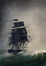 Cartoon: Escape (small) by alesza tagged ship sea waves escape
