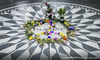 Cartoon: Imagine (small) by alesza tagged image,john,lennon,strawberry,fields,forever,münchen,munich,peace