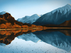 Cartoon: Wanaka - New Zealand (small) by alesza tagged wanaka,newzealand,mirror,reflection,landscape,neuseeland,spiegelung,reflexion,new,zealand