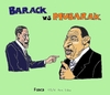 Cartoon: Barack and Mubarak (small) by Fusca tagged oil,politics,tiny,alliances