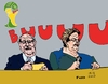 Cartoon: Dilma blamed for corruPTion (small) by Fusca tagged corruption,lula,dilma,pt,brazil,protests,popular,movement