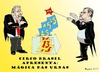 Cartoon: Fraud in Brazilian elections (small) by Fusca tagged fraud,corruption,bolivarian,totalitarism,communism,rousseff,brazil,elections
