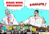 Cartoon: Lula and Maduro against people (small) by Fusca tagged lula,maduro,terror,communist,regime,castrism,bolivarian,corruption,hostages,people