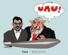 Cartoon: Lula helping Ahmadinejad (small) by Fusca tagged authoritarism,terrorism,dictatorships