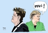 Cartoon: Rousseff and Merkel (small) by Fusca tagged corruption,brazil,bolivarian,republic,populist,dictatorship