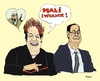 Cartoon: Rousseff chooses terrorism (small) by Fusca tagged luladasilva,corruption,brazil,latrocracy,dictatorship