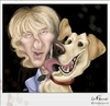 Cartoon: Owen Wilson and Marley (small) by lufreesz tagged owen,wilson,caricature,marley,and,me