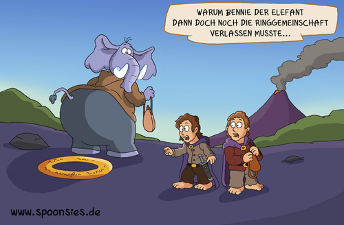 Cartoon: Herr der Ringe geplättet (medium) by ChristianP tagged herr,der,ringe,geplättet