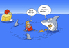 Cartoon: Hai (small) by ChristianP tagged hai,shark