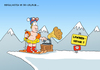 Cartoon: Masochistenskifahrer (small) by ChristianP tagged masochist,skifahrer