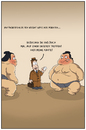 Cartoon: sumo weightwatcher (small) by ChristianP tagged sumo weightwatcher