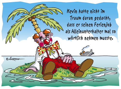 Cartoon: Alleinunterhalter (medium) by rpeter tagged insel,inselwitz,meer