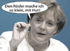 Cartoon: Klein mit Hut (small) by rpeter tagged merkel,rösler,bundespräsident,rache,kanzlerin