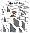 Cartoon: Vaterfreuden (small) by rpeter tagged labyrinth kind kinder vater