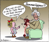 Cartoon: Westgeschenk (small) by rpeter tagged oma,kind,osten,lappen,jammerlappen