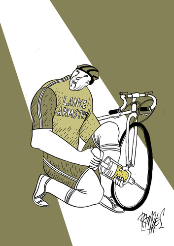 Cartoon: Pumping dope (medium) by Ramses tagged cicling,olympics,sports,doping