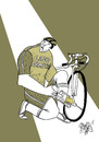 Cartoon: Pumping dope (small) by Ramses tagged cicling,olympics,sports,doping