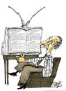 Cartoon: Telebook (small) by Ramses tagged tv