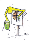 Cartoon: Refuse (small) by Monica Zanet tagged free,zanet,target