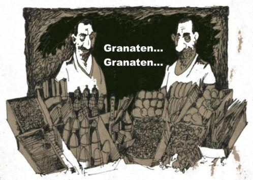 Cartoon: Granaten...Granaten... (medium) by medwed1 tagged schljachow,cartoon,granaten