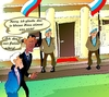 Cartoon: Putinscherzt (small) by medwed1 tagged putin,weisehaus,usa,scherz