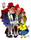 Cartoon: Wer hat das gemacht...? (small) by medwed1 tagged merkel,klitschko,jazuck,ukraina