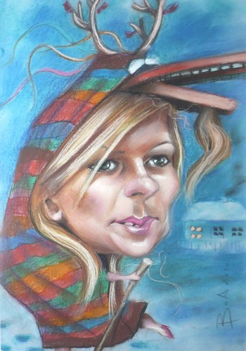 Cartoon: Romanian minister Elena Udrea (medium) by boa tagged aricature,cartoon,happy,nice,painting,humor,comic,boa,romania