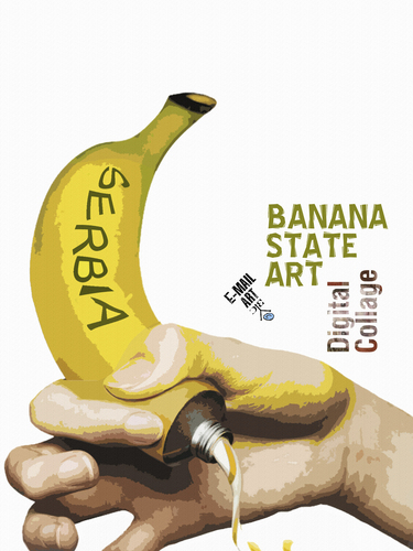 Cartoon: Banana state (medium) by Zoran Spasojevic tagged serbia,kragujevac,emailart,graphics,collage,digital,paske,spasojevic,zoran,state,banana
