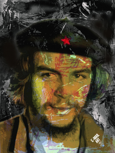Cartoon: Ernesto Che Guevara (medium) by Zoran Spasojevic tagged serbia,kragujevac,zoran,spasojevic,emailart,paske,graphics,digital,portrait,revolutionary,guevara,che,ernesto