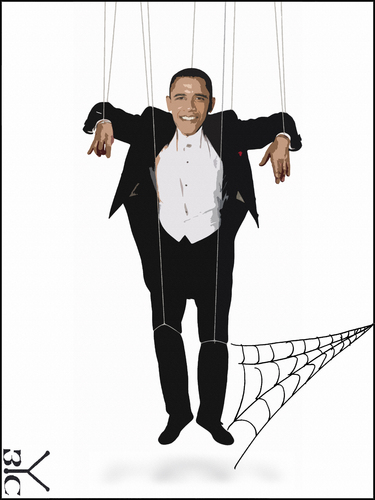 Cartoon: Puppet Obama (medium) by Zoran Spasojevic tagged serbia,kragujevac,emailart,paske,spasojevic,zoran,europe,obama,puppet,graphics,collage,digital