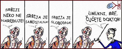 Cartoon: Samostalna Srbija (medium) by Zoran Spasojevic tagged emailart,zoran,spasojevic,short,comic,strip