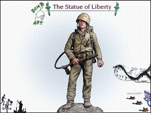 Cartoon: Statue of Liberty (medium) by Zoran Spasojevic tagged liberty,of,statue,serbia,kragujevac,paske,spasojevic,zoran,usa,america,graphics,emailart,collage,digital