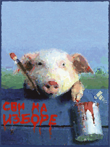 Cartoon: Svi na izbore (medium) by Zoran Spasojevic tagged serbia,kragujevac,emailart,paske,spasojevic,zoran,elections,graphics,collage,digital