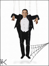 Cartoon: Puppet Obama (small) by Zoran Spasojevic tagged digital,collage,graphics,puppet,obama,europe,zoran,spasojevic,paske,emailart,kragujevac,serbia