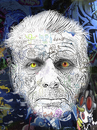 Cartoon: Samuel Beckett (small) by Zoran Spasojevic tagged emailart,digital,collage,graphics,samuel,beckett,portrait,writer,spasojevic,zoran,paske,kragujevac,serbia