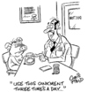 Cartoon: oinkment (small) by fieldtoonz tagged doctor,pig,medicine,cream